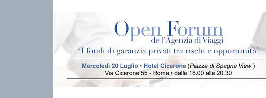 """Borghini e Cossa partecipa al prossimo Open Forum  """"I fondi di garanzia privati, tra rischi e opportunità"""", a Roma il 20/07/2016"""